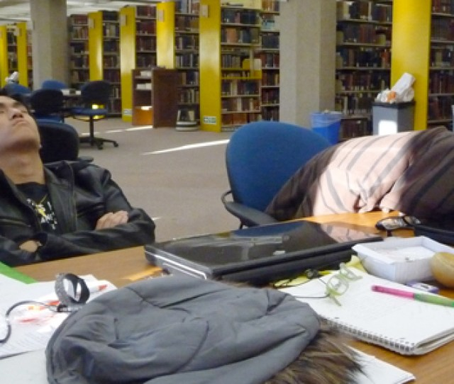 6 Asians Sleeping In The Library