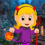 Games4King Cute Devil Baby Rescue 2