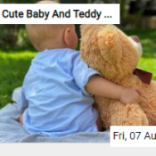 Cute Baby And Teddy Bear Jigsaw