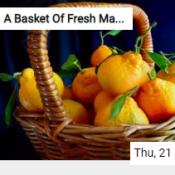 A Basket Of Fresh Mandarins Jigsaw