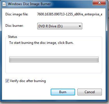 windows 7 burn an iso image b
