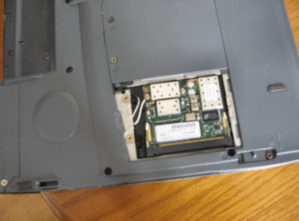 Replacing a miniPCI wifi card in a laptop