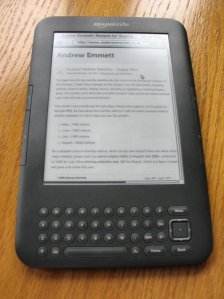 Amazon Kindle 3G ebook reader in the UK – My initial thoughts