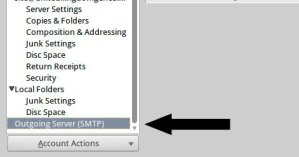 How to change a SMTP server's details / settings in Mozilla Thunderbird 3
