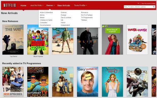 Netflix UK via a web browser