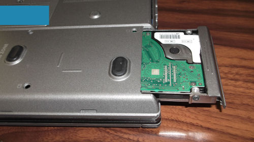 Removing a laptop hard drive from a Dell Latitude D630