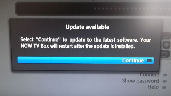 NowTV box software update