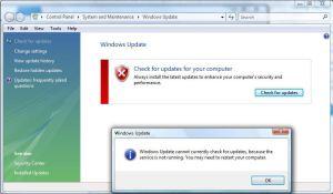 Microsoft Windows Update and Microsoft Security Essentials Won't Update!