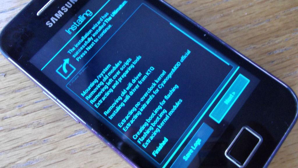 Samsung Galaxy Ace GT-S5830 Unlock, Root and Custom Rom Installation - 8Bit  Mammoth