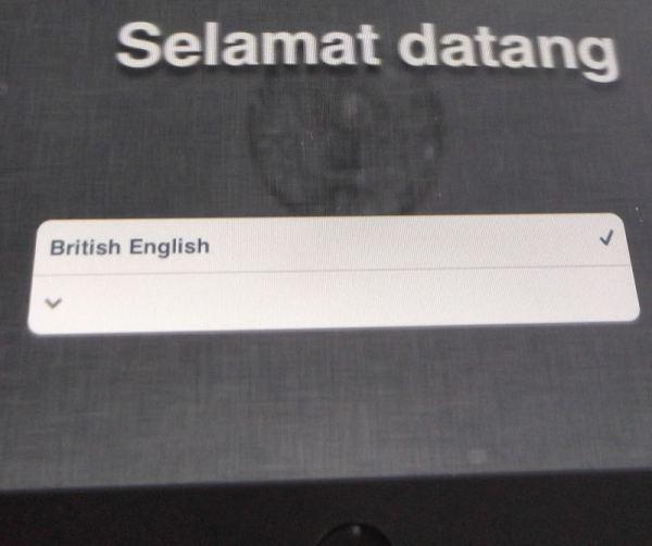 Select iPad Language