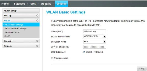 WLAN Basic Settings