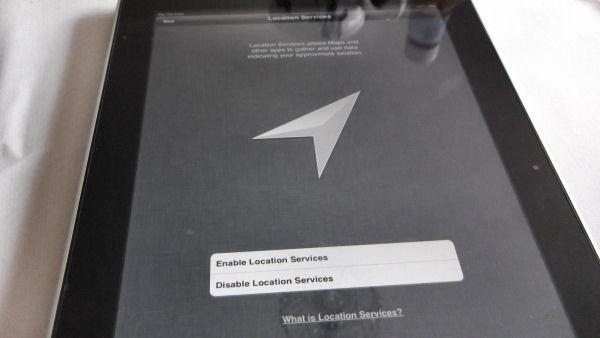 iPad Enable Location Services