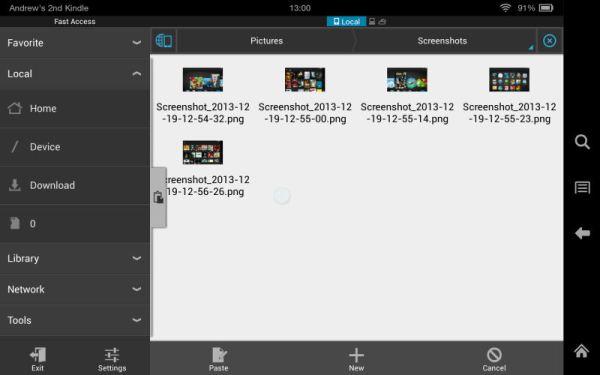 "Amazon Kindle Fire HDX 7"" Tablet File Management Screenshot"