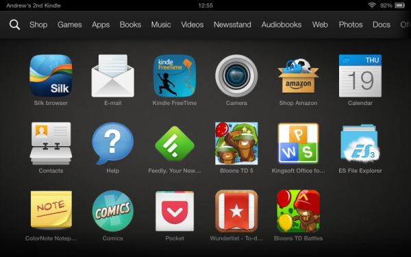 "Amazon Kindle Fire HDX 7"" Tablet Screenshot 2"