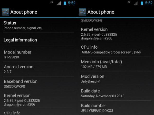 Samsung Galaxy ACE GT-S5830 JellyBread custom rom Screenshots 3