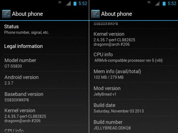 Android Custom Roms for the Samsung Galaxy ACE GT-S5830