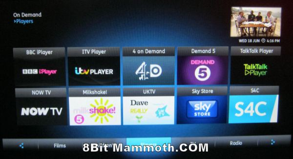 TalkTalk YouView On-Demand Players