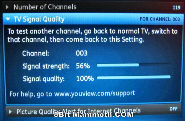 TalkTalk YouView Signal Strength