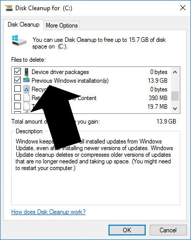 Previous Windows Installation(s)