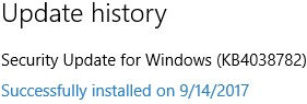 Security Update for Windows