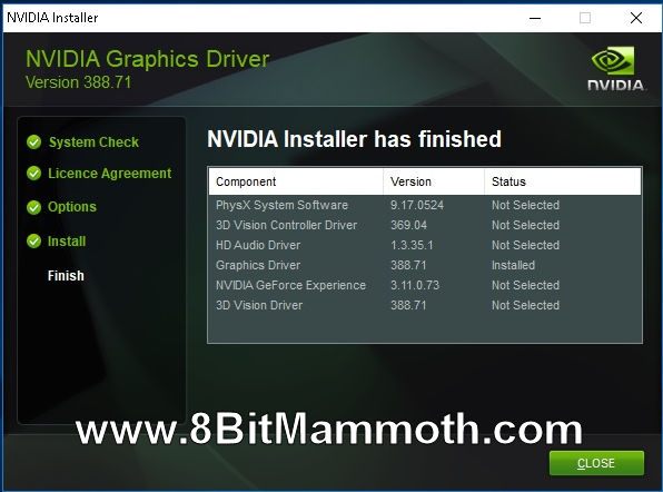 Nvidia Graphics Driver for GT710