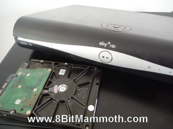 satellite box cover and hard drive