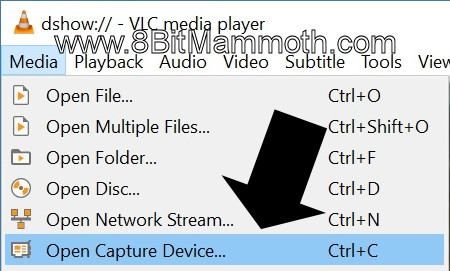 VLC Open Capture Device