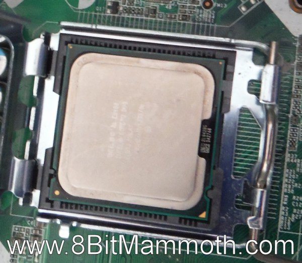 CPU on motherboard