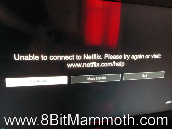 Netflix unable to connect message