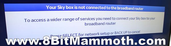 Your Sky box is not connected message