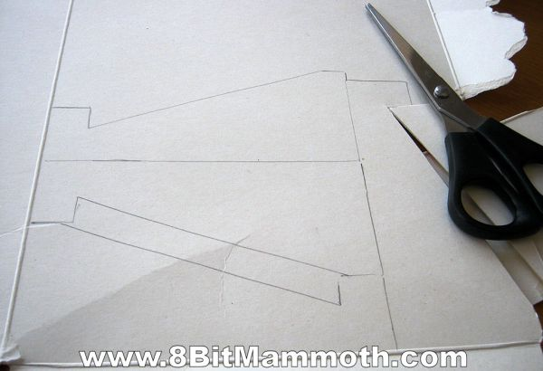 templates on cardboard