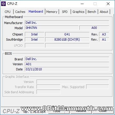 CPU-Z screenshot mentioning 0hn7xn motherboard