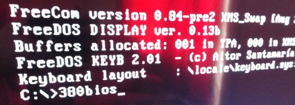 FreeDOS command prompt