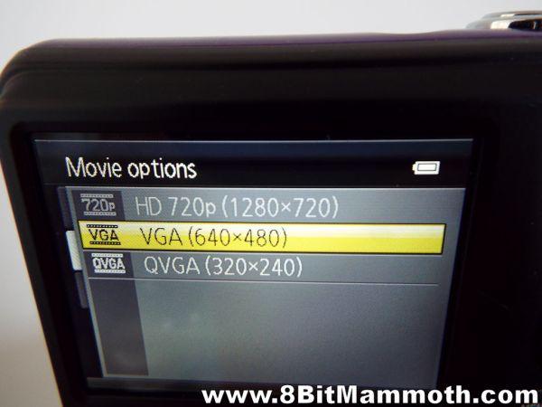 Nikon Coolpix L29 video resolutions