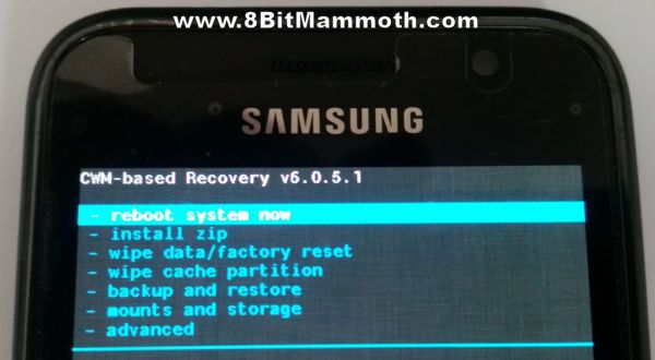 cwm based recovery reboot