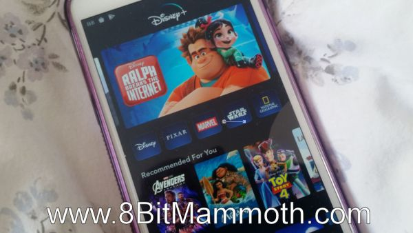 Disney+ on a Mobile Phone