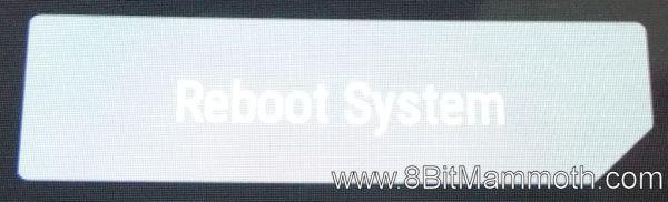 Reboot System option