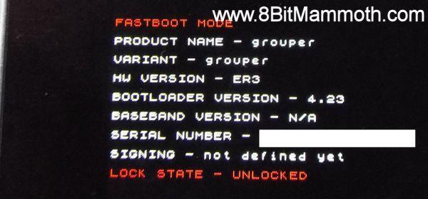 lock state unlocked