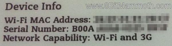 Kindle 3 B00A Wi-Fi and 3G Device Info