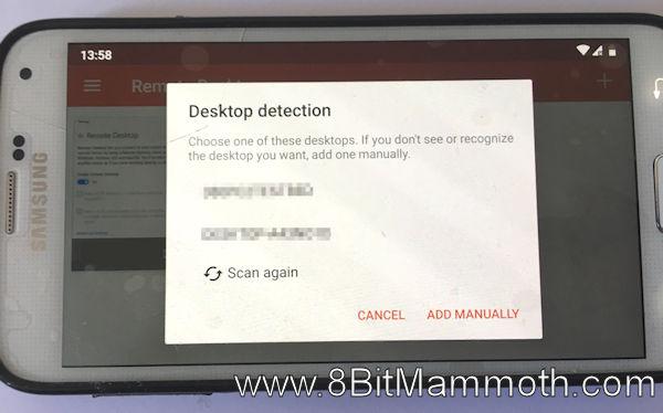 Edited photo showing desktop detection