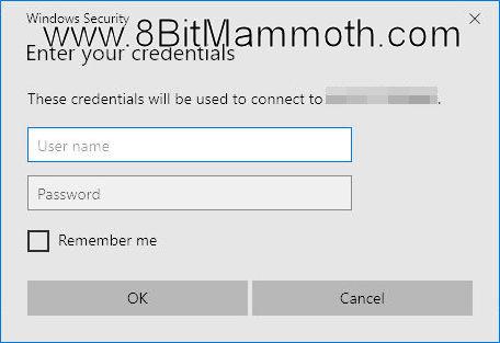 Enter your credentials