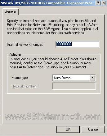 Internal network number