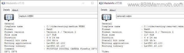 WEBM comment removed
