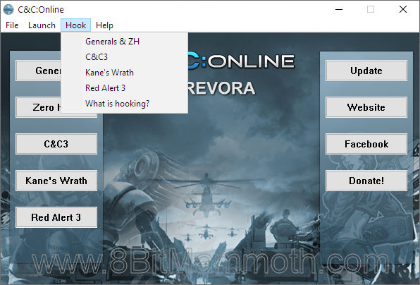 Screenshot of the C&C:Online Launcher application