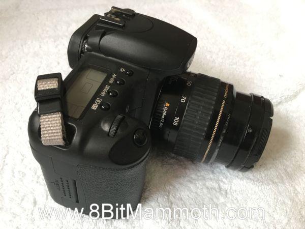 A photo of a Canon EOS 20D camera