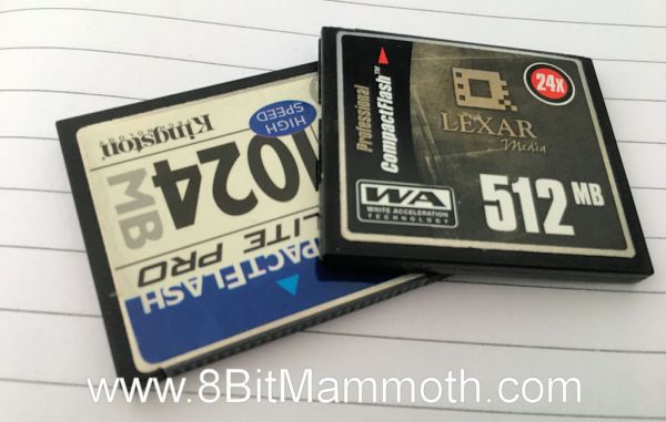 A photo of two memory cards