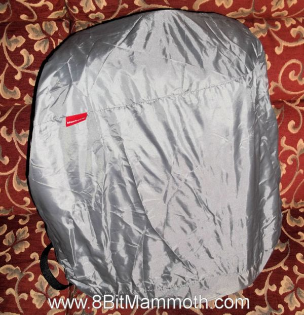 A backpack with a rain cover