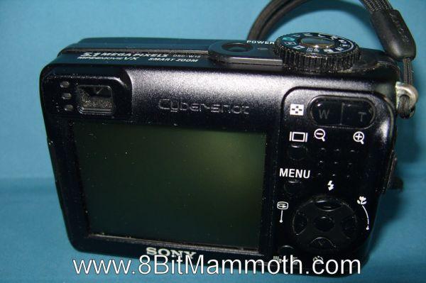 A rear photo of a Sony Cyber-shot DSC-W12 Camera