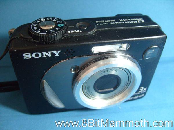 A photo of a Sony Cyber-shot DSC-W12 Camera