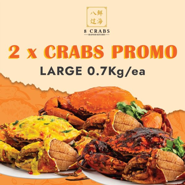 2 Crabs Promotion by 8 Crabs (Large)
